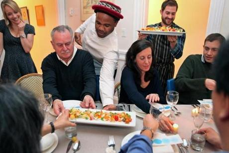 Guests were invited to sample small dishes made by chefs throughout the greater Boston area.